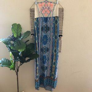 Boho crochet halter maxi dress